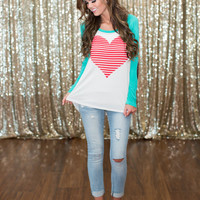 Heart Breaker Sequins Elbow Top