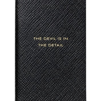 """The Devil is in the Detail"" Wafer Notebook, Black"