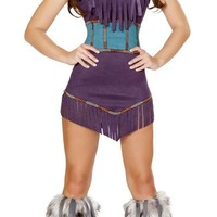 War Drum Indian Girl Halloween Costume