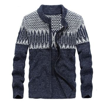 Men's Sweaters for Wool Sweater coat With Zipper Cardigan For Men Warm Winter Clothing