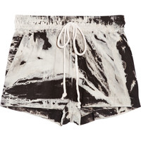 ENZA COSTA Tie-dyed linen shorts – 55% at THE OUTNET.COM