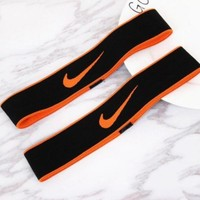 NIKE Sport Yoga Gym Motion Headband Hair Hoop Orange