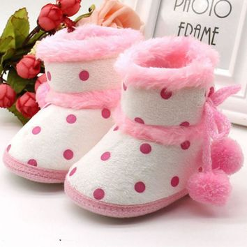 Baby Shoes Winter Boots Soft Bottom Baby Girls Moccasin Baby Warm Boots Non-slip Booties Hot