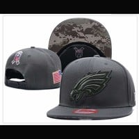 Philadelphia Eagles New Era Salute To Service 9Fify Flat Brim Hats