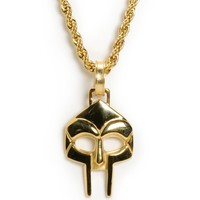 Frank 151 x MF Doom Mask Gold Necklace
