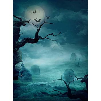Printed Haunted Spooky Night Backdrop - 9209