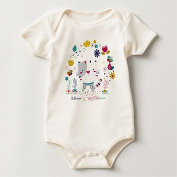 Cat Meow Baby Bodysuit