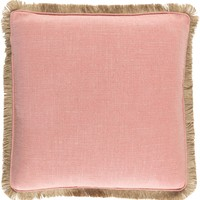 Ellery Throw Pillow Pink, Brown
