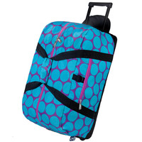 Big Dot Aqua Rolling Duffel Bag - 51119