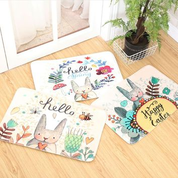 Autumn Fall welcome door mat doormat Water absorption non-slip Cartoon  Living room kitchen bedroom porch carpet  Home Decoration AT_76_7