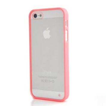 Costyle Lovely Colorful Soft Trim Slim Ultra High Clear Back Hard Cover Bumper Case Skin for New iPhone 5 5S 5GS+Free 2pcs Screen Protector Cover+Free Mini Crystal stylus Touch Pen (Rose Pink)
