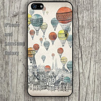 Flying balloon up colorful iphone 6 6 plus iPhone 5 5S 5C case Samsung S3,S4,S5 case Ipod Silicone plastic Phone cover Waterproof
