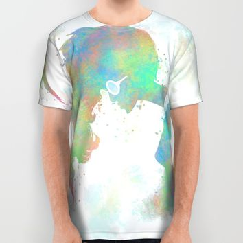 Pastel Silhouette All Over Print Shirt by Ben Geiger