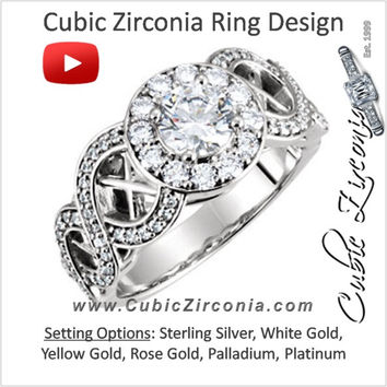 Cubic Zirconia Engagement Ring- The Kandise