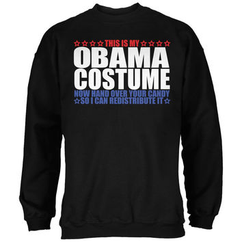 Halloween Funny Obama Costume Black Adult Sweatshirt