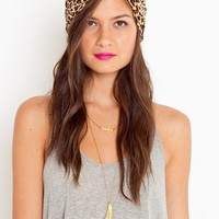 Leopard Velvet Turband in Accessories at Nasty Gal