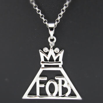 Fallout Fall out Boy Logo Centuries FOB jewelry rock alternative necklace chain