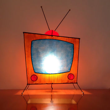 MOD Pop Art Retro TV Novelty Light / TV Lamp / Vintage Atomic Era / Handmade Numbered