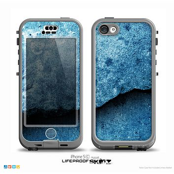 The Blue Broken Concrete Skin for the iPhone 5c nüüd LifeProof Case