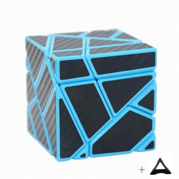 Fangcun 3x3 Ghost Cube Magic Cube Puzzle Blue/White/Black Hollow Sticker Speed Cube Special Toys For Children  Fidget Cube