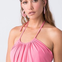 Rosarito Earrings - Pink & Gold