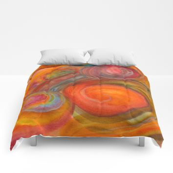 Sounds of Watercolors I Comforters by ViviGonzalezArt