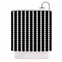 "Trebam ""Perla"" Black White Shower Curtain"
