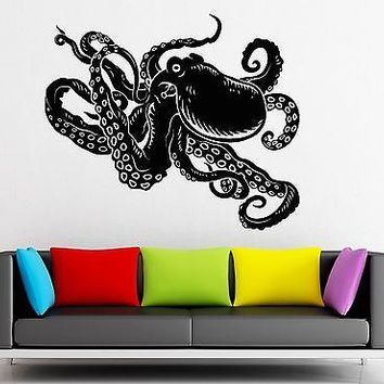Wall Sticker Vinyl Decal Octopus Marine Animal Nice Bathroom Decor Unique Gift (ig1965)