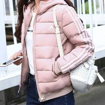 Adidas Women Fashion Down Coat Cardigan Jacket