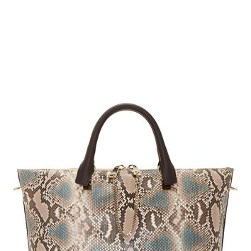 Chlo Purple And Taupe Python Leather Medium Baylee Bag