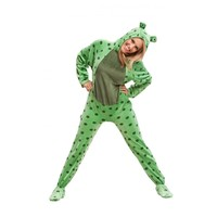 Buy Green Fuzzy Frog Adult Costumes Pajamas | World's Best PJ's