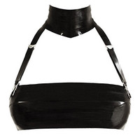 Couture Latex Restricted Neck 2 Suspenders | Atsuko Kudo