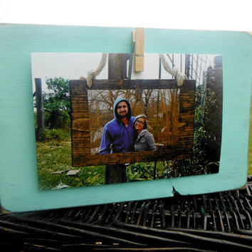 Rustic Wood Frame - Bright Colors - Distressed