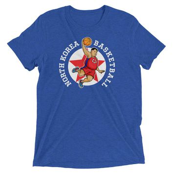 North Korea Basketball Rocketman Tri-Blend Performance T-Shirt