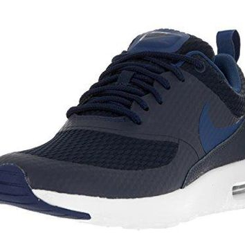 Nike Women's Air Max Thea TXT Obsidian/Coastal Blue Smmt Wht Running Shoe 6.5 Women US  womens nike air max