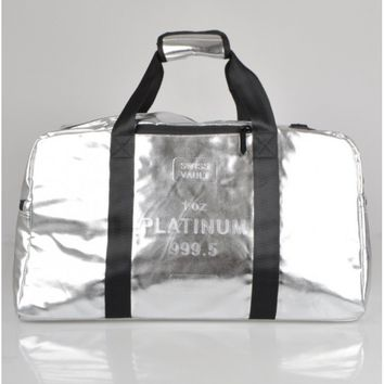 SPRAYGROUNDPLATINUM BRICK LAPTOP DUFFLE BAG