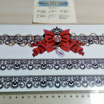 temporary tattoo large lace/ like a garter and bowknot