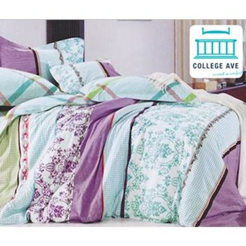 Sunset Aqua TXL Designer Dorm Bedding for Girls