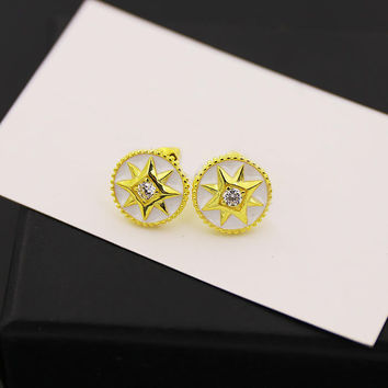 BeadyBoutique Lucky Star Jewelry Collection Earrings - White