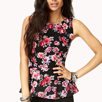 Romantic Rose Peplum Top