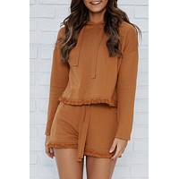 Definition Of Cozy Two Piece Set (Cinnamon)
