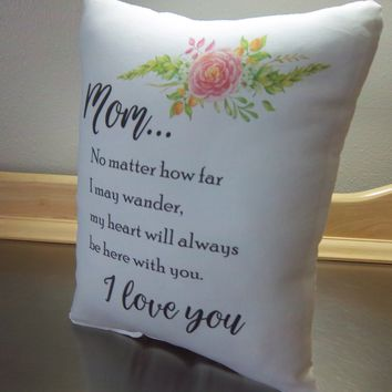 Pillows mom birthday gift throw pillow mother long distance gift