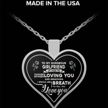 """Breath"" HEART PENDANT NECKLACE FOR GIRLFRIENDS - BEST GIFTS FOR GIRLFRIENDS"