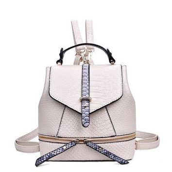 Fashion Alligator Women's Backpacks High Quality Luxury PU leather Ladies School Bags Backpacks Famous Designer Bucket Bag
