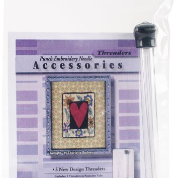5/Pkg CTR Needleworks Punch Embroidery Needle Threaders
