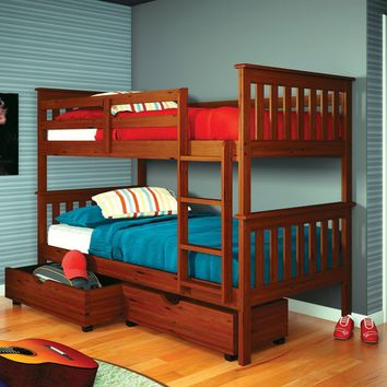 William Bunk Beds for Kids with Storage