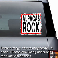 Alpacas Rock Sticker