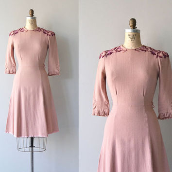 Allardyce dress | vintage 1940s dress | wool 40s dress