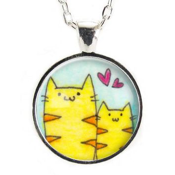 Mommy & Me Cat Necklace