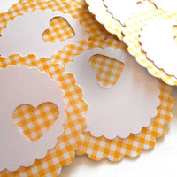 18 Adhesive Labels  2inch Scallop Circle by SouthrnWildFlower